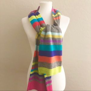 GAP Multicolored striped sweater knit scarf